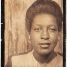 Vintage African American Gorgeous Woman Photo Booth Old Black Americana TPB25