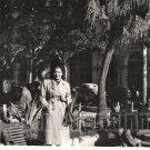 Vintage Pretty African American Woman Teacher Africa Photo Black Americana HS44