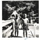 Vintage African American Boys Swimming Children Old Photo Black Americana SQ34