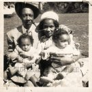 Vintage African American Family Man Woman Child Old Photo Black Americana SQ30