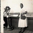 Vintage African American Pretty Woman Old Photo Black Americana SQ09