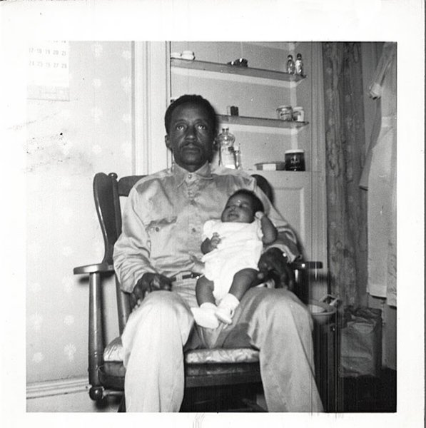 Vintage African American Family Man Father Child Old Photo Black Americana SQ31
