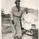 Vintage African American Military Man Photo Soldier Army Old Black Americana