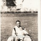 Vintage African American Handsome Father Baby Old Photo Black Americana V029