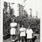 Vintage African American Children Kids Outside Old Photo Black Americana V043