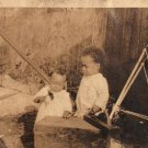 Antique African American Young Boys Playing Children Photo Black Americana HS24