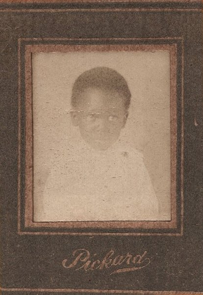 Antique African American Pickard's Penny Photo Old Vintage Black Americana APP06