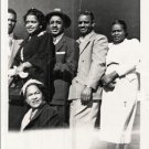 Vintage African American Family Friends Group Old Photo Black Americana V036
