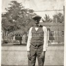 Antique African American Handsome Young Man Old Photo Black Americana Men V19