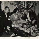 Vintage African American Family Group Christmas Old Photo Black Americana HS54