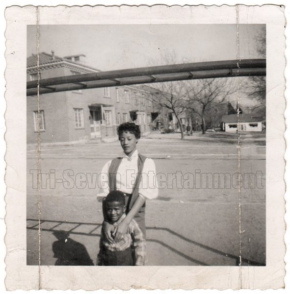 Vintage African American Pretty Young Girl w/ Boy Old Photo Black Americana SQ39