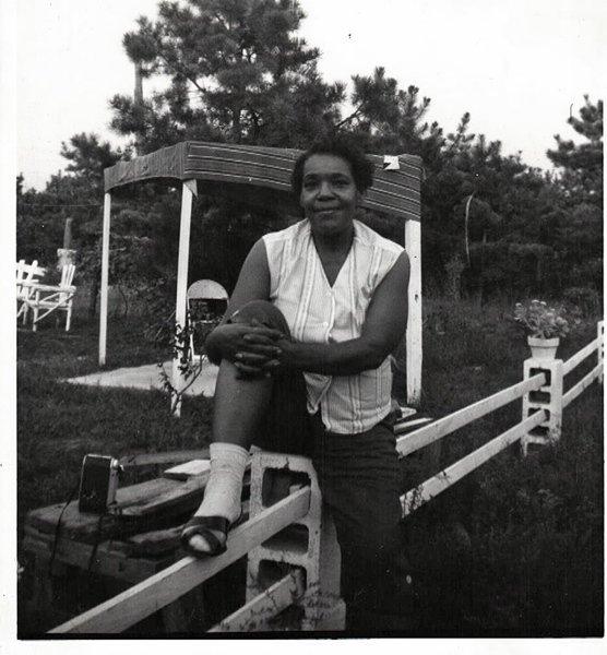 Vintage African American Woman Old Photo Black Americana SQ08