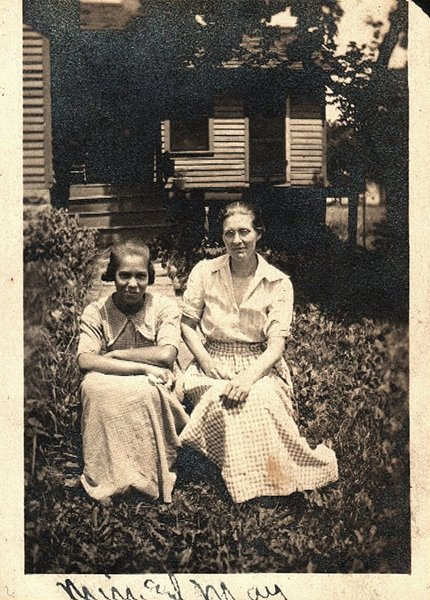 Antique African American Photo Women Together People Group Old Black Americana
