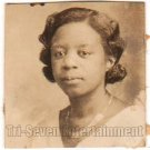 Antique African American Pretty Woman Photo Booth Old Black Americana TPB32