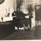 Vintage African American Older Woman Living Room Photo Old Black Americana HS36