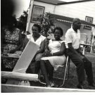 Vintage African American Woman Man Group Family Photo Old Black Americana SQ24