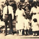 Antique African American Family Group Children Photo Old Black Americana HS20