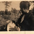 Antique African American Mother Baby Children Photo Old Black Americana HS21