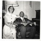 Vintage African American Couple Photo Man Woman Married Old Black Americana SQ15