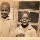Antique African American Young Boys Children Kids Photo Old Black Americana HS18