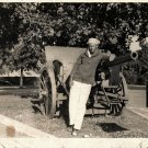 Vintage African American Man By Canon Military Photo Old Black Americana HS12