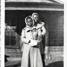 Vintage African American Two Women Together Old House Photo Black Americana V040