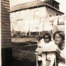 Vintage Beautiful African American Woman with Child Photo Black Americana EVA01