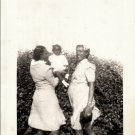 Vintage African American Two Women Mother w/ Baby Old Photo Black Americana V039