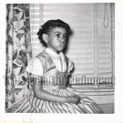 Vintage African American Cute Young Girl Children Old Photo Black Americana SQ35