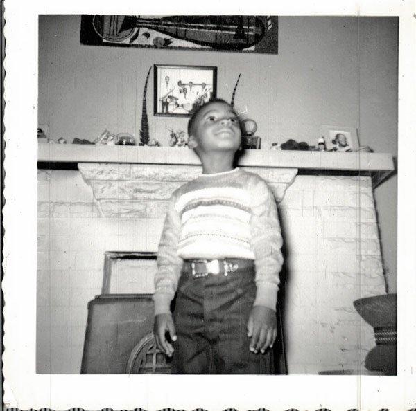 Vintage African American Boy Children Child Old Photo Black Americana SQ29
