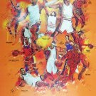 Basketball Poster Black Sports History Wall Art Print African American (18x24)