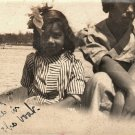 Antique African American Family Photo Young Girls Teen Old Black Americana HS30