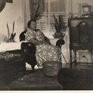 Vintage African American Older Woman Living Room Photo Old Black Americana HS35