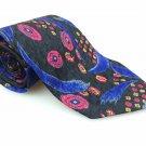 FIERTE SRL Men's New 100% Silk Tie Paisley Red Circles NWOT Necktie Ties B1004