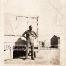 Vintage African American Man Military Soldier Old Photo Black Americana Men V022