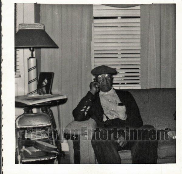 Vintage African American Men Man Living Room Photo Old Black Americana SQ20