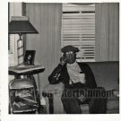 Vintage African American Men Man Living Room Photo Old Black Americana SQ20