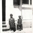 Vintage African American Children Kids Outside Old Photo Black Americana V044