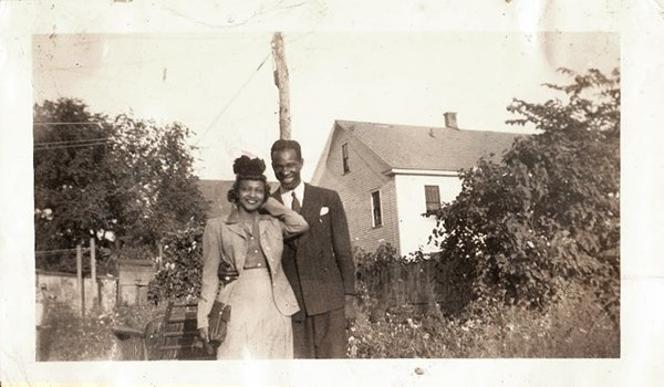 Vintage African American Woman Man Cute Couple Photo Old Black Americana HS05