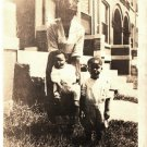 Antique African American Photo Woman Mother with Children Old Black Americana