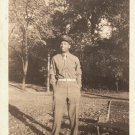 Antique African American Military Man Photo Soldier Army Old Black Americana
