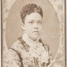 Antique African American Carte de Visite CDV Photo Fancy Woman Black Americana