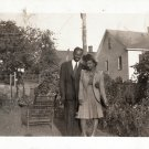 Vintage African American Woman Man Cute Couple Photo Old Black Americana HS06