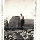 Antique African American Young Man at Beach Old Photo Black Americana Men V020