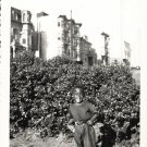 Vintage Cute African American Boy Outside Old Kids Photo Black Americana V045