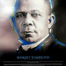 Booker T Washington Poster w/ Biography African American Wall Art Photo (18x24)