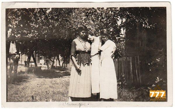 Antique Three Sad African American Women Old Photo Group Black Americana HS81