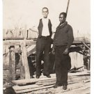 Antique African American Well Dressed Men Photo Old Black Americana V078