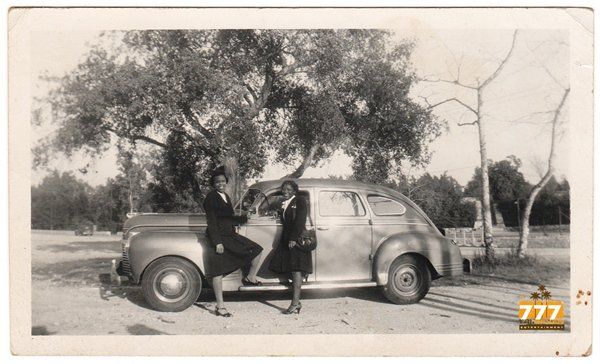 Vintage Smiling African American Women Car Old Photo People Black Americana HS86