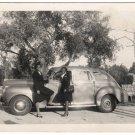 Vintage Smiling African American Women Car Old Photo People Black Americana HS86
